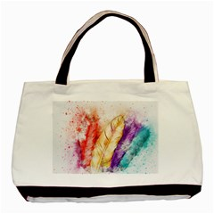 Feathers Bird Animal Art Abstract Basic Tote Bag