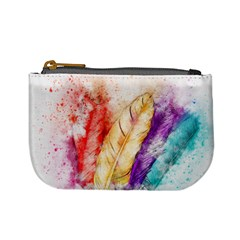 Feathers Bird Animal Art Abstract Mini Coin Purses