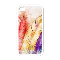 Feathers Bird Animal Art Abstract Apple Iphone 4 Case (white)