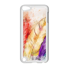 Feathers Bird Animal Art Abstract Apple Ipod Touch 5 Case (white)