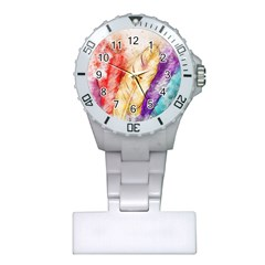 Feathers Bird Animal Art Abstract Plastic Nurses Watch