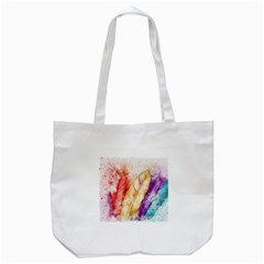 Feathers Bird Animal Art Abstract Tote Bag (white) by Nexatart