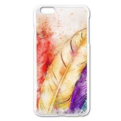 Feathers Bird Animal Art Abstract Apple Iphone 6 Plus/6s Plus Enamel White Case