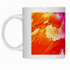 Abstract Art Background Paint White Mugs