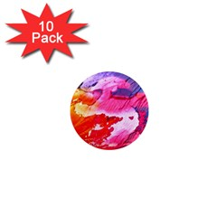 Abstract Art Background Paint 1  Mini Magnet (10 Pack)