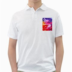 Abstract Art Background Paint Golf Shirts