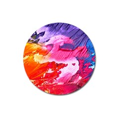Abstract Art Background Paint Magnet 3  (round)