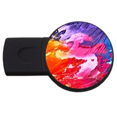 Abstract Art Background Paint Usb Flash Drive Round (2 Gb) by Nexatart