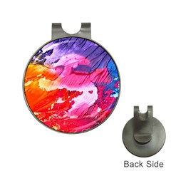 Abstract Art Background Paint Hat Clips With Golf Markers