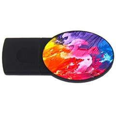 Abstract Art Background Paint Usb Flash Drive Oval (4 Gb)