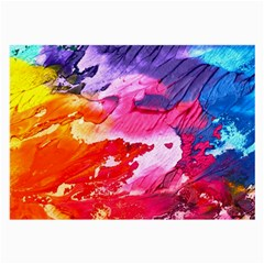 Abstract Art Background Paint Large Glasses Cloth (2 Side)