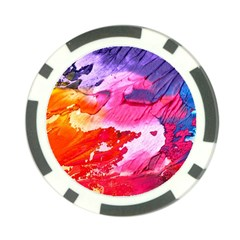 Abstract Art Background Paint Poker Chip Card Guard