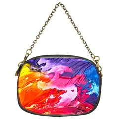 Abstract Art Background Paint Chain Purses (one Side)
