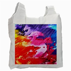 Abstract Art Background Paint Recycle Bag (one Side) by Nexatart