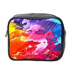 Abstract Art Background Paint Mini Toiletries Bag 2 Side