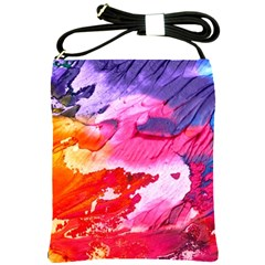 Abstract Art Background Paint Shoulder Sling Bags