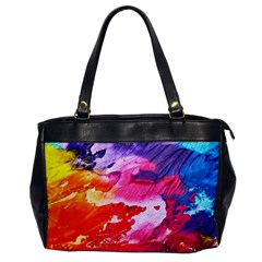 Abstract Art Background Paint Office Handbags