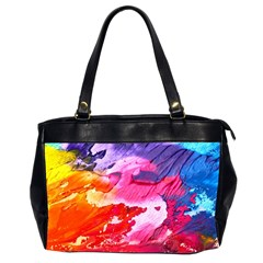 Abstract Art Background Paint Office Handbags (2 Sides)