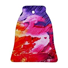 Abstract Art Background Paint Bell Ornament (two Sides)