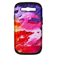 Abstract Art Background Paint Samsung Galaxy S Iii Hardshell Case (pc+silicone)
