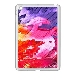 Abstract Art Background Paint Apple Ipad Mini Case (white)