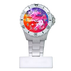 Abstract Art Background Paint Plastic Nurses Watch
