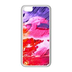 Abstract Art Background Paint Apple Iphone 5c Seamless Case (white)
