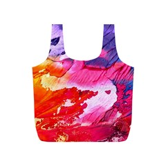Abstract Art Background Paint Full Print Recycle Bags (s)