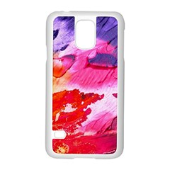 Abstract Art Background Paint Samsung Galaxy S5 Case (white)
