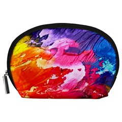 Abstract Art Background Paint Accessory Pouches (large)