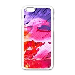 Abstract Art Background Paint Apple Iphone 6/6s White Enamel Case