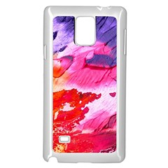 Abstract Art Background Paint Samsung Galaxy Note 4 Case (white)