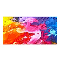 Abstract Art Background Paint Satin Shawl by Nexatart