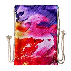 Abstract Art Background Paint Drawstring Bag (large)