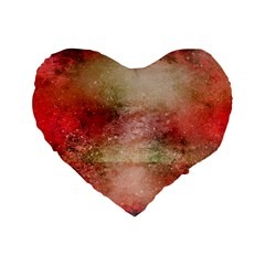 Background Art Abstract Watercolor Standard 16  Premium Flano Heart Shape Cushions