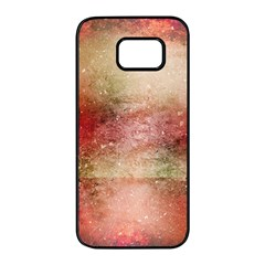 Background Art Abstract Watercolor Samsung Galaxy S7 Edge Black Seamless Case