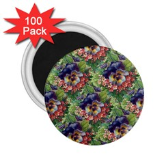 Background Square Flower Vintage 2 25  Magnets (100 Pack)