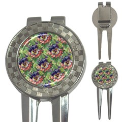 Background Square Flower Vintage 3 In 1 Golf Divots