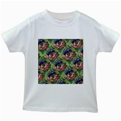 Background Square Flower Vintage Kids White T Shirts