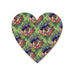 Background Square Flower Vintage Heart Magnet by Nexatart