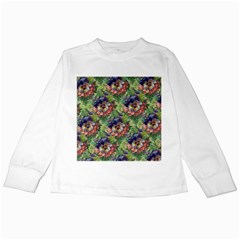 Background Square Flower Vintage Kids Long Sleeve T Shirts