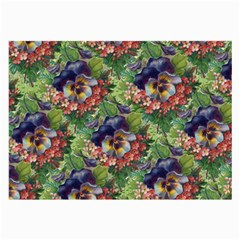 Background Square Flower Vintage Large Glasses Cloth by Nexatart