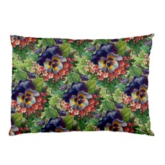 Background Square Flower Vintage Pillow Case