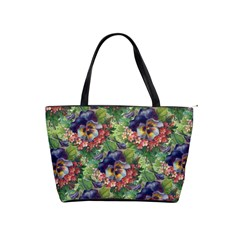 Background Square Flower Vintage Shoulder Handbags