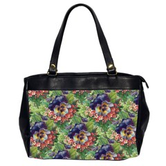 Background Square Flower Vintage Office Handbags (2 Sides)