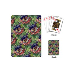 Background Square Flower Vintage Playing Cards (mini)