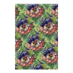 Background Square Flower Vintage Shower Curtain 48  X 72  (small)  by Nexatart