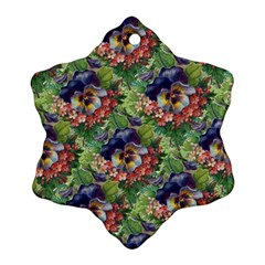 Background Square Flower Vintage Snowflake Ornament (two Sides)