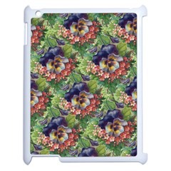 Background Square Flower Vintage Apple Ipad 2 Case (white)