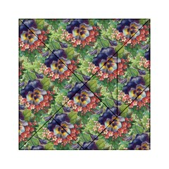 Background Square Flower Vintage Acrylic Tangram Puzzle (6  X 6 )